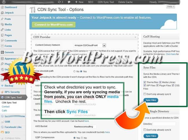 CDN Sync Tool step 2