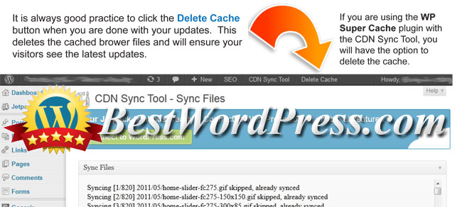 Delete your cache files