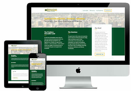 Resolution Equities Website Design Example